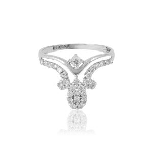 White Gold Ladies Ring (272)